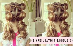 Bubble Braid Updo Hairstyles