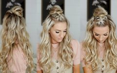 Half Up Top Knot Braid Hairstyles