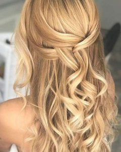 Loose Highlighted Half Do Hairstyles