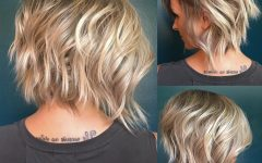 Short Asymmetric Bob Hairstyles with Textured Curls