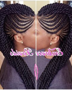 Fully Braided Mohawk Hairstyles