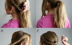 Pair of Braids with Wrapped Ponytail