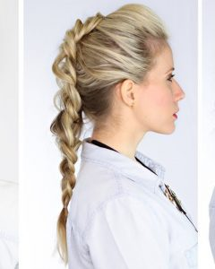 Two Trick Ponytail Faux Hawk Hairstyles