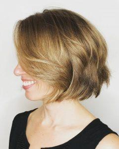 Chin-Length Layered Haircuts