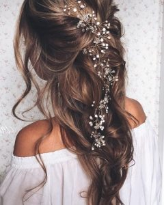 Pulled Back Wedding Hairstyles