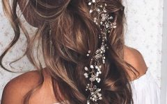 Accessorized Undone Waves Bridal Hairstyles