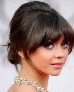 Updo for Long Hair with Bangs