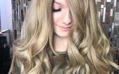 Long Wavy Hairstyles with Horizontal Bangs
