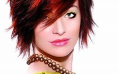 Red And Black Short Hairstyles