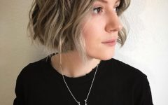 Jaw-length Curly Messy Bob Hairstyles