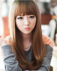 Cute Asian Haircuts with Bangs