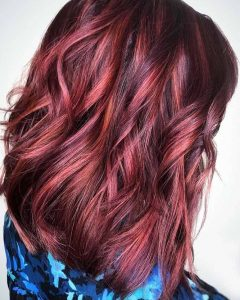 Natural Brown Hairstyles with Barely-there Red Highlights