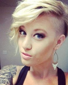Short Hairstyles With Shaved Side