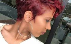 Burgundy Short Hairstyles