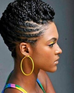 Updo Black Braided Hairstyles