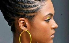 Black Braids Updo Hairstyles