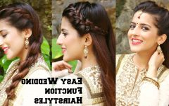 Easy Indian Wedding Hairstyles For Long Hair