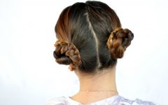 Cinnamon Bun Braided Hairstyles