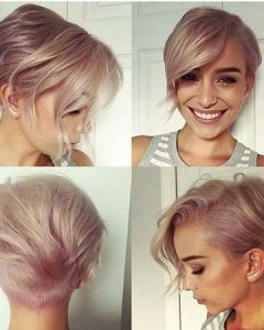 Rose Gold Pixie Haircuts