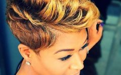 Short Hairstyles with Color for Black Women