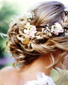 Wedding Hairstyles For Medium Length Hair With Flowers