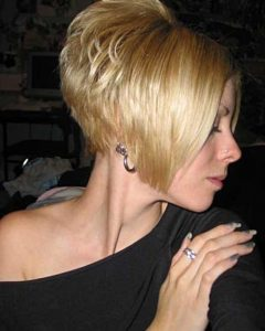 Short Stacked Bob Haircuts With Bangs