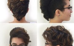 Short and Curly Faux Mohawk Hairstyles