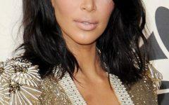 Long Bob Hairstyles Kim Kardashian