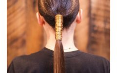 Stitched Thread Ponytail Hairstyles