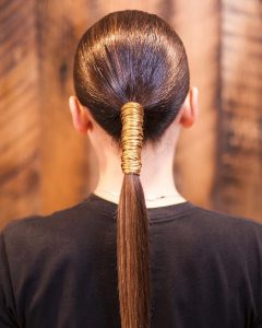 Stitched Thread Ponytail Hairstyles