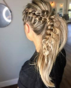 Dyed Simple Ponytail Hairstyles For Second Day Hair