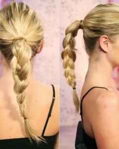 Pretty Plaited Ponytails