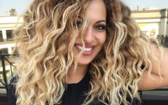 Curls and Blonde Highlights Hairstyles
