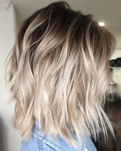 Long Blonde Pixie Haircuts with Root Fade