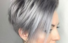 Airy Gray Pixie Hairstyles with Lots of Layers