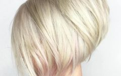 Stacked White Blonde Bob Hairstyles
