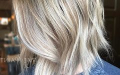 Blonde Balayage Bob Hairstyles with Angled Layers