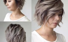 Layered Short Hairstyles for Round Faces