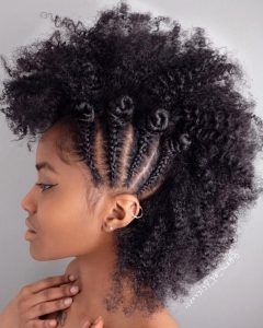 Natural Curly Hair Mohawk Hairstyles