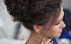 Messy Bun Prom Hairstyles with Long Side Pieces