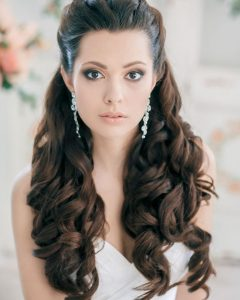 Part Up Part Down Wedding Hairstyles
