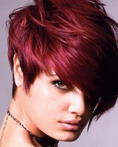 Short Haircuts With Red Color