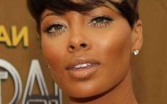 African American Short Haircuts for Round Faces