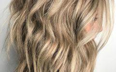 Wavy Bronde Bob Shag Haircuts