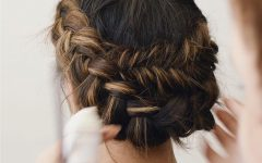 Chunky French Braid Chignon Hairstyles