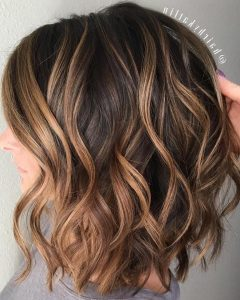 Golden-brown Thick Curly Bob Hairstyles