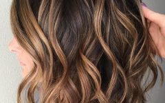 Soft Brown and Caramel Wavy Bob Hairstyles