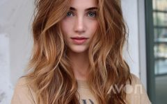 Voluminous Long Caramel Hairstyles