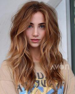 Voluminous Long Caramel Hairstyles