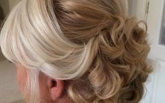Curly Blonde Updo Hairstyles for Mother of the Bride